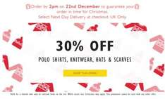 Lyle & Scott 30% off jumpers, polo shirts, scarves, hats & gloves