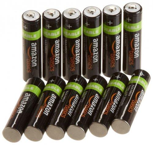 AmazonBasics AAA NiMH Precharged Rechargeable Batteries 12 Pack 800 mAh £11.99 @ AMAZON