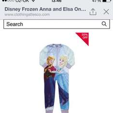 Frozen onsies now £4.50/£5.00 in tesco still full price in the shop online only @ F&F Clothing