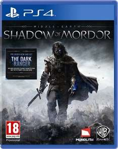 shadow of mordor ps4 £22.00  preowned @ cex (£2.50 delivery)