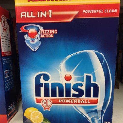 Finish, 78 dishwasher tabs £10 @ tesco
