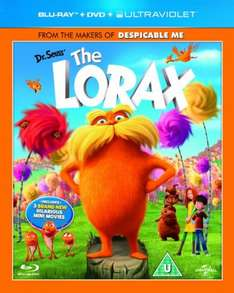 The Lorax triple play bluray/dvd £4.89 @ Amazon. Free delivery with prime/orders over £10