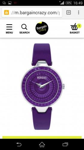 versus versace watch £69.99 delivered with code w30 @ Bargain Crazy