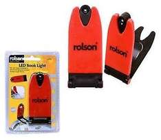 Rolson LED Clip on book light just 99p delivered by chancerychaircovers @ Ebay