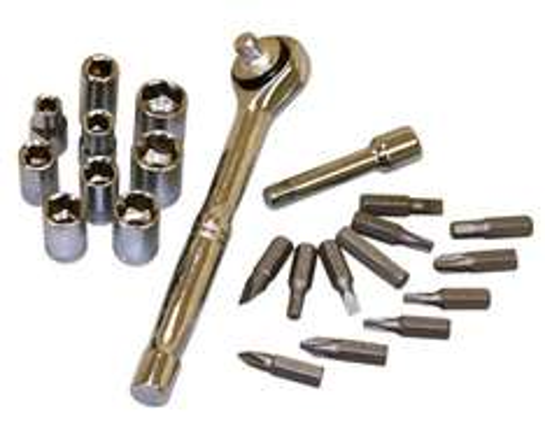Rolson 36099 Socket and Bit Set (23 Pieces) £4.01 @ Amazon (Add on Item)