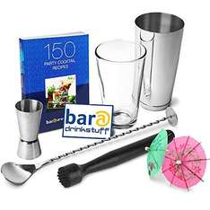 Professional Cocktail Book Cocktail Set £9.99 (rrp £23.99) + £3.99 delivery @ drinkstuff.com