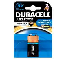 DURACELL Ultra Power Alkaline 9V PP3 Battery for £0.97p online click and collect only@Currys PcWorld