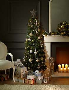 M&S - 50% off Christmas Decorations, Trees and Lights, 30% off Crackers