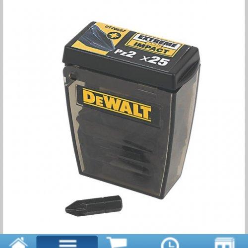 Dewalt 25 pz2 or ph2 screwdriver bits £3.99 @ Screwfix