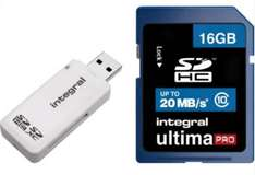 Integral Class 10 SDHC 16GB Memory Card With USB Card Reader at Argos on Ebay £5.99 + Free P&P