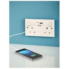 BG 13A 2-Gang Switched Socket & USB Charger £15 @ ScrewFix