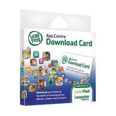 LeapFrog Explorer App Centre Download £15 Card (for LeapPad and Leapster) £7.46  (free delivery £10 spend/prime)