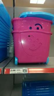 smiley storage box on wheels with lid £3.00 @ Tesco instore