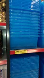 Storage boxes reduced from £5 to clear £1.13 @ Tesco