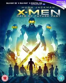 X-Men: Days of Future Past 3D Blu-ray @ Amazon £15.80 (Free delivery/Prime)