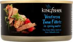 Kingfisher Ventresca Yellowfin Tuna Fillets in Spring Water (185g) was £1.98 now 2 for £3.00 @ Asda