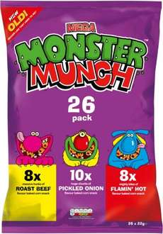 Walkers Monster Munch Variety (26 x 22g) was £4.99 now £3.00 (again) @ Tesco
