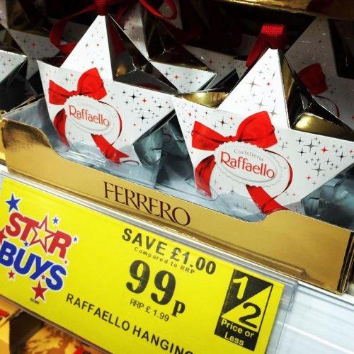 Ferrero Rafaello Hanging Star - Half Price 99p at Home Bargains