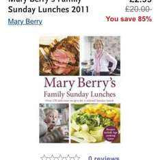 Mary Berry  £2.99 at WHsmiths click and collect or spend over £15 for free delivery Family Sunday Lunches