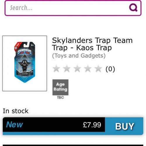 Skylanders trap team kaos trap £7.99 @ Game