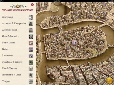 Discworld Ankh-Morpork iPad app at iTunes for £2.99