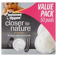 Tommee Tippee Closer to Nature Disposable Breast Pads 50pk £3 @ Asda