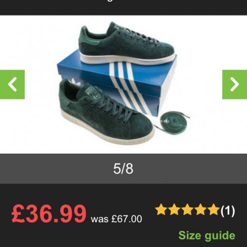 Adidas Stan Smiths - Dark Green £36.99 @ Schuh