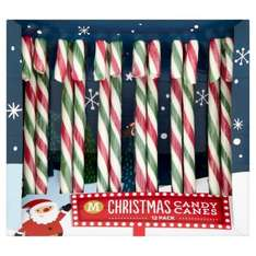 Morrisons 12 Pack Peppermint Candy Canes Now 50P @ Morrisons