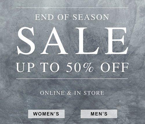 Upto 50% sale now live @ All Saints