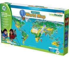 Leapreader World Map £7.49 at Amazon  (free delivery £10 spend/prime)