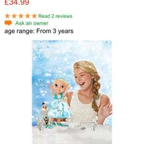 Snow glow Elsa £34.99 @ ELC