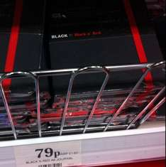 Red and Black A6 journal - Cracker of a deal 79p @ Home Bargains