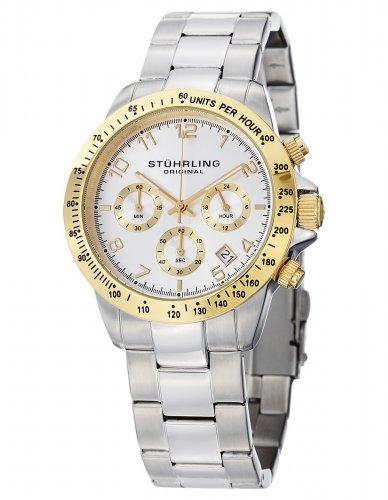 Stuhrling Original Monaco Men's Quartz Watch with Black Dial Analogue Display and Silver Stainless Steel Bracelet £57.52 @ Amazon