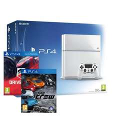 PS4 CONSOLE WHITE + DRIVECLUB + THE CREW BUNDLE SALE 14 £359.99 at EBAY SHOPTO