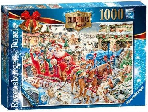 Ravensburger Christmas 2014 Limited Edition Puzzle: The Christmas Farm (1000 Pieces) £6.98   @ Plusdvd. / Amazon