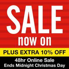10% off everything at Halfords starting Christmas Eve and ending midnight on Christmas Day