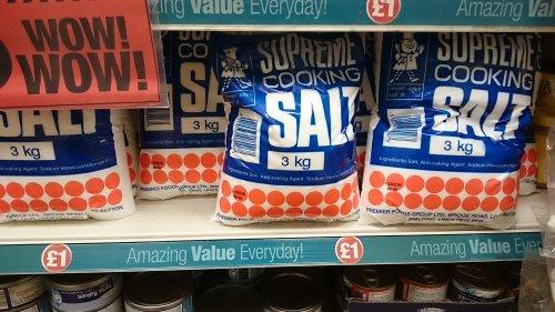 SUPREME COOKING SALT 3KG £1.00 IN FELTHAM POUNDLAND