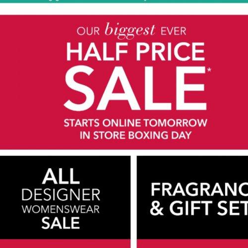 Debenhams online sales start 24th
