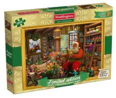 Waddingtons Santa's Workshop Limited Edition Christmas Jigsaw Puzzle (1000 Pieces) @ £10 Sold by Smart Games Online and Fulfilled by Amazon