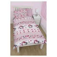 Hello Kitty Single Duvet Set £7.50 @ Tesco Direct