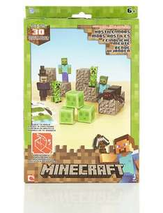 30 Piece Minecraft Hostile Paper Craft Pack was £9.50 now £4.75 online @ M&S - click & collect