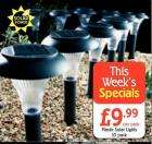 Plastic Solar Powered Outdoor Garden Lights 10 Pack for £9.99 at Netto