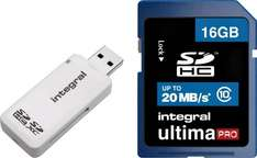 Integral Class 10 SDHC 16GB Memory Card With USB Card Reader Brand New With a 12 Month Argos Warranty £5.99 Argos ebay