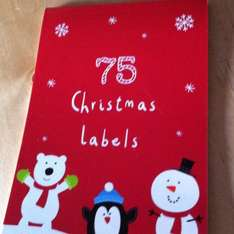 Sticky Christmas labels £1.00 from co-op