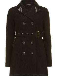 Chase 7 Black Eyelet Trench Coat was £65 now £15 @ Dorothy Perkins