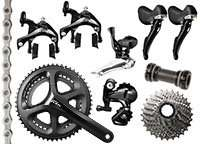 Shimano 105 11 speed groupset from £279.95, Tiagra 10 speed groupset from £199.95 at Ribble Cycles