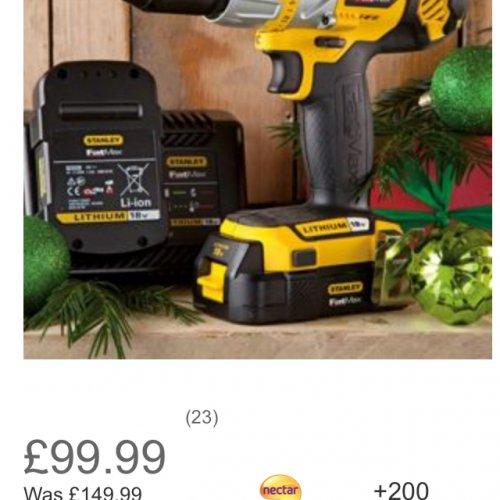 Stanley FatMax 18V Li-Ion Hammer Drill £79.99 @ Homebase
