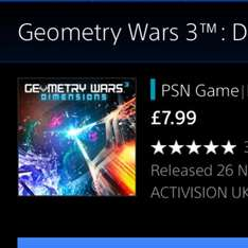 Geometry Wars 3 £7.99 @ PSN