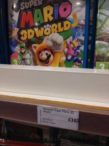 Super Mario 3D World (£30) and Pikmin 3 (£22) Wii U @ John Lewis instore Cribbs Causeway Bristol