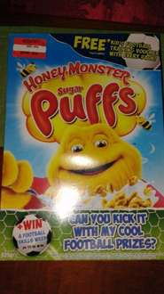 Honey Monster Sugar Puffs 625g reduced to 50p Was £3.25 @ Asda (Norwich)
